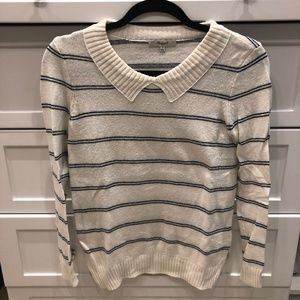 Madewell Blue and White Striped Sweater